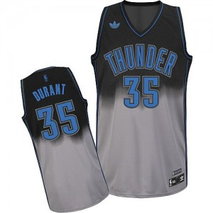 Hombre Camiseta Kevin Durant #35 Oklahoma City Thunder Adidas Fadeaway Fashion Gris oscuro Swingman