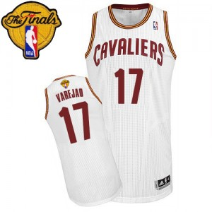 Camiseta NBA Home 2015 The Finals Patch Cleveland Cavaliers Blanco Authentic - Hombre - #17 Anderson Varejao