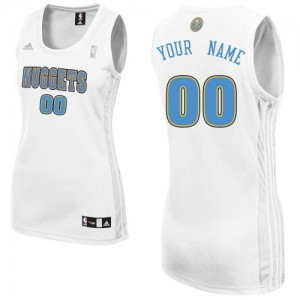 Mujer Camiseta Swingman Personalizadas Denver Nuggets Adidas Home Blanco