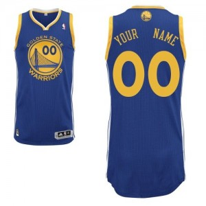Golden State Warriors Adidas Road Azul real Camiseta de la NBA - Authentic Personalizadas - Hombre