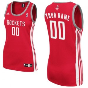 Camiseta NBA Road Houston Rockets Rojo - Mujer - Personalizadas Swingman