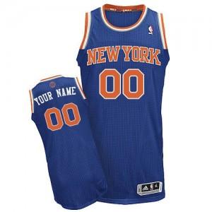 Camiseta NBA New York Knicks Authentic Personalizadas Road Adidas Azul real - Adolescentes