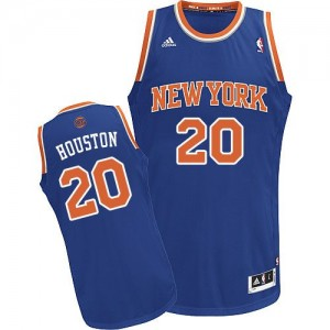 Camiseta NBA Swingman Allan Houston #20 Road Azul real - New York Knicks - Hombre