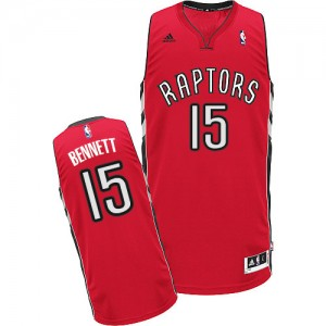 Camisetas Baloncesto Hombre NBA Toronto Raptors Road Swingman Anthony Bennett #15 Rojo