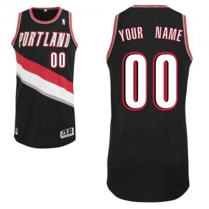 Adolescentes Camiseta Authentic Personalizadas Portland Trail Blazers Adidas Road Negro