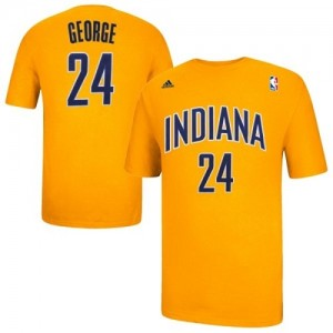 T-Shirts Paul George #24 Indiana Pacers Game Time Oro - Hombre