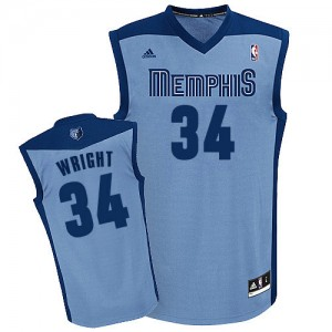 Camiseta NBA Swingman Brandan Wright #34 Alternate Azul claro - Memphis Grizzlies - Hombre