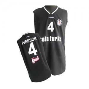 Camiseta NBA Philadelphia 76ers Negro Authentic - Hombre - #4 Allen Iverson