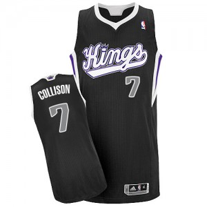 Camiseta NBA Alternate Sacramento Kings Negro Authentic - Hombre - #7 Darren Collison