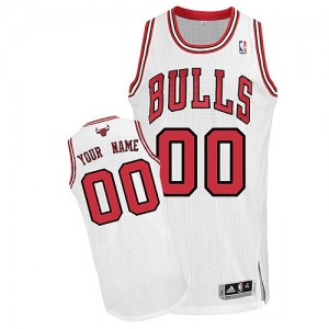 Camiseta NBA Chicago Bulls Authentic Personalizadas Home Adidas Blanco - Adolescentes
