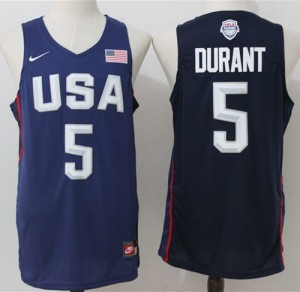 Camiseta Kevin Durant #5 Stitched Azul marino - 2016 Dream Team