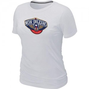 T-Shirt Primary Logo Mujer NBA New Orleans Pelicans Big & Tall Blanco