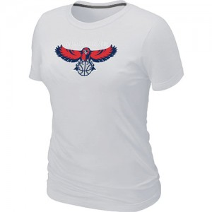 T-Shirts NBA Big & Tall Atlanta Hawks Blanco - Mujer
