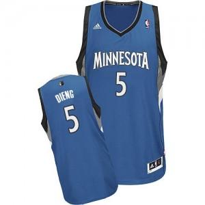 Minnesota Timberwolves Adidas Road Azul pizarra Swingman Camiseta de la NBA - Gorgui Dieng #5 - Hombre
