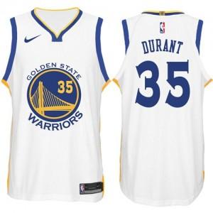 Camiseta Kevin Durant #35 Golden State Warriors 2017-18 New Season Blanco