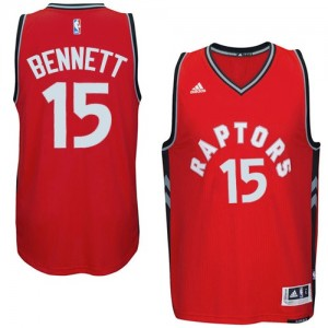 Camisetas Baloncesto Hombre NBA Toronto Raptors climacool Authentic Anthony Bennett #15 Rojo