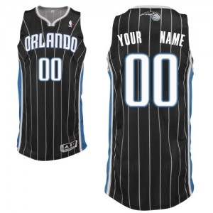 Camiseta NBA Orlando Magic Authentic Personalizadas Alternate Adidas Negro - Adolescentes