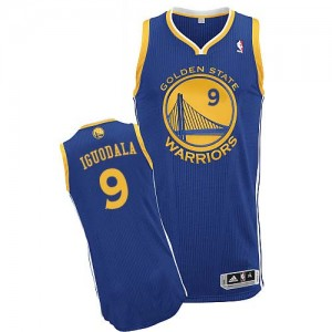 Camisetas Baloncesto Hombre NBA Golden State Warriors Road Authentic Andre Iguodala #9 Azul real