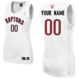 Toronto Raptors Adidas Home Blanco Camiseta de la NBA - Authentic Personalizadas - Mujer