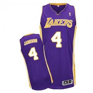 Los Angeles Lakers Adidas Road Púrpura Authentic Camiseta de la NBA - Byron Scott #4 - Hombre
