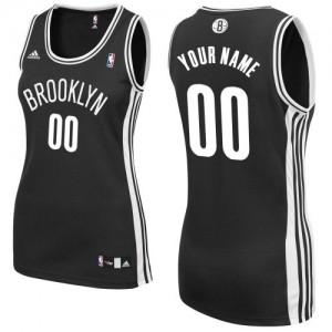 Brooklyn Nets Adidas Road Negro Camiseta de la NBA - Swingman Personalizadas - Mujer