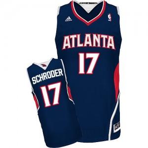 Camiseta NBA Road Atlanta Hawks Azul marino Swingman - Hombre - #17 Dennis Schroder