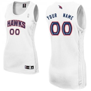 Camiseta NBA Authentic Personalizadas Home Blanco - Atlanta Hawks - Mujer
