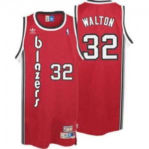 Camisetas Baloncesto Hombre NBA Portland Trail Blazers Throwback Authentic Bill Walton #32 Rojo