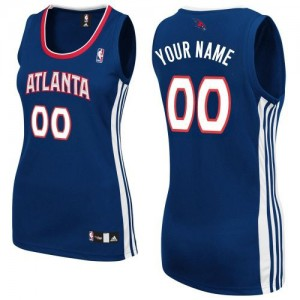 Camiseta NBA Authentic Personalizadas Road Azul marino - Atlanta Hawks - Mujer