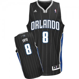 Orlando Magic Adidas Alternate Negro Swingman Camiseta de la NBA - Channing Frye #8 - Hombre