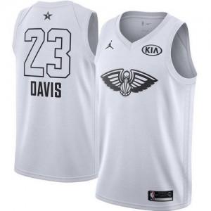 New Orleans Pelicans Jordan 2018 All-Star Game Blanco Swingman Camiseta de la NBA - Anthony Davis #23 - Niño