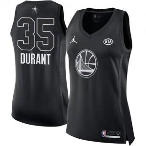 Camiseta Jordan 2018 All-Star Game Golden State Warriors Negro Swingman - Mujer - #35 Kevin Durant