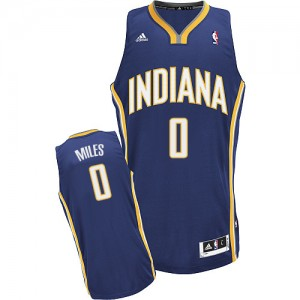 Hombre Camiseta C.J. Miles #0 Indiana Pacers Adidas Road Azul marino Swingman