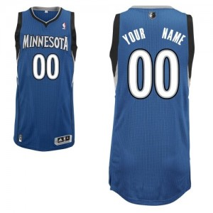 Camiseta NBA Authentic Personalizadas Road Azul pizarra - Minnesota Timberwolves - Adolescentes