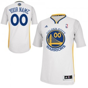 Golden State Warriors Adidas Alternate Blanco Camiseta de la NBA - Swingman Personalizadas - Mujer