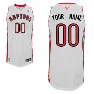 Toronto Raptors Adidas Home Blanco Camiseta de la NBA - Authentic Personalizadas - Hombre