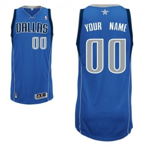Camiseta NBA Dallas Mavericks Authentic Personalizadas Road Adidas Azul real - Hombre