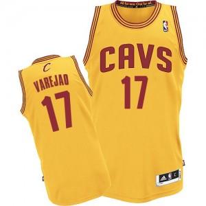 Camiseta NBA Alternate Cleveland Cavaliers Oro Authentic - Hombre - #17 Anderson Varejao