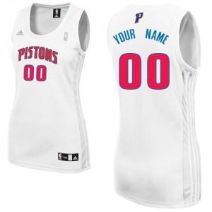 Mujer Camiseta Swingman Personalizadas Detroit Pistons Adidas Home Blanco
