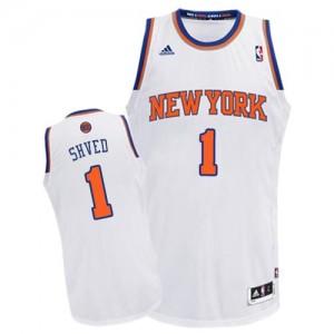 Camiseta NBA Swingman Alexey Shved #1 Home Blanco - New York Knicks - Hombre