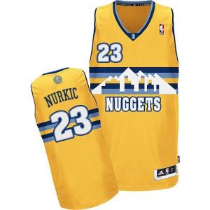 Camiseta NBA Denver Nuggets Jusuf Nurkic #23 Alternate Adidas Oro Authentic - Hombre