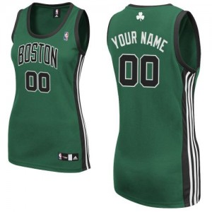 Camiseta NBA Authentic Personalizadas Alternate Verde (negro No.) - Boston Celtics - Mujer