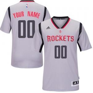 Houston Rockets Adidas Alternate Gris Camiseta de la NBA - Authentic Personalizadas - Hombre