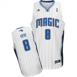 Orlando Magic Adidas Home Blanco Swingman Camiseta de la NBA - Channing Frye #8 - Hombre