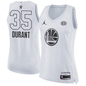 Camiseta Swingman Kevin Durant #35 Golden State Warriors 2018 All-Star Game Blanco - Mujer