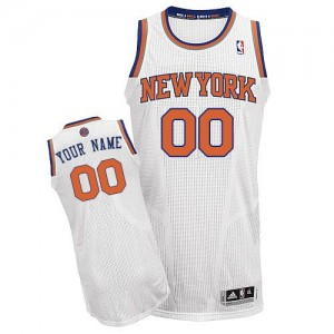 Adolescentes Camiseta Authentic Personalizadas New York Knicks Adidas Home Blanco
