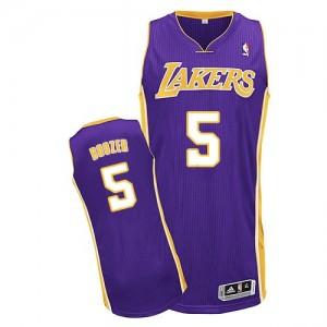 Los Angeles Lakers Adidas Road Púrpura Authentic Camiseta de la NBA - Carlos Boozer #5 - Hombre