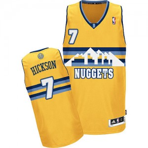 Camiseta NBA Denver Nuggets JJ Hickson #7 Alternate Adidas Oro Authentic - Hombre