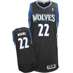 Minnesota Timberwolves Adidas Alternate Negro Authentic Camiseta de la NBA - Andrew Wiggins #22 - Hombre
