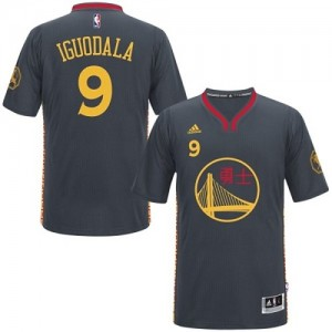 Camisetas Baloncesto Hombre NBA Golden State Warriors Slate Chinese New Year Authentic Andre Iguodala #9 Negro